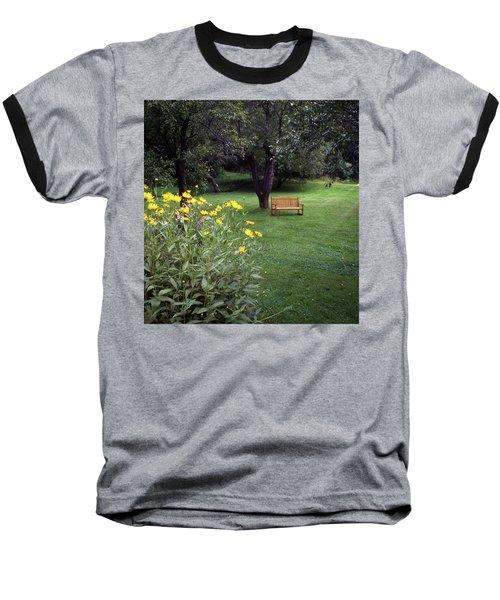 Churchyard Bench - Woodstock, Vermont Baseball T-Shirt