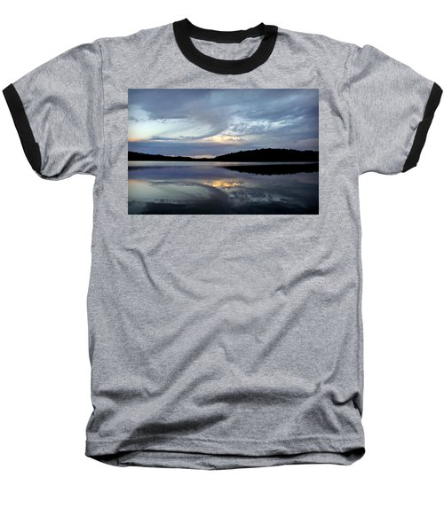 Baseball T-Shirt featuring the photograph Churning Clouds At Sunrise by Chris Berry
