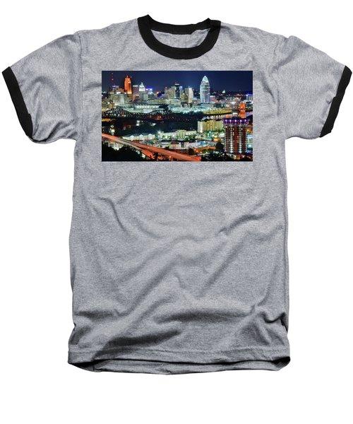 Cincinnati And Covington Collide Baseball T-Shirt
