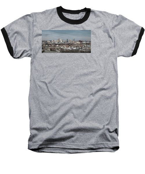 Cincinnati Panorama  Baseball T-Shirt by Scott Meyer