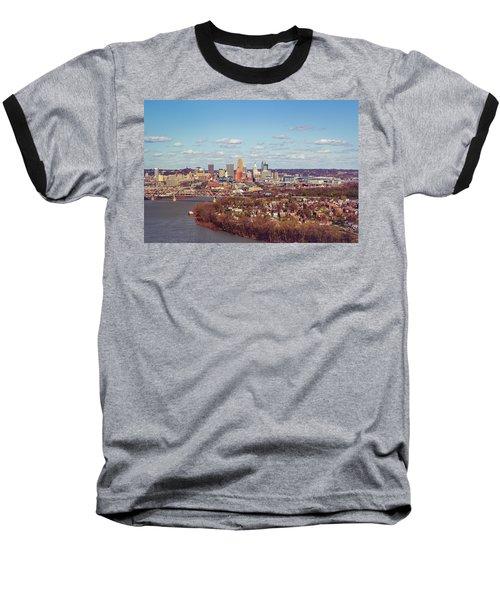 Cincinnati Skyline 2 Baseball T-Shirt