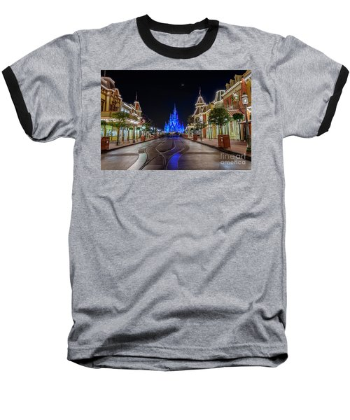 Cinderella Castle Glow Over Main Street Usa Baseball T-Shirt