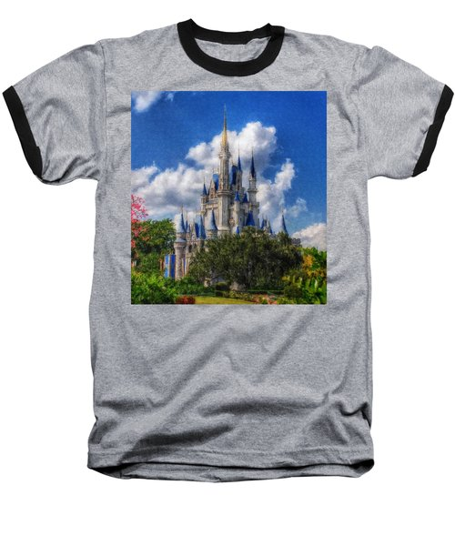 Cinderella Castle Summer Day Baseball T-Shirt
