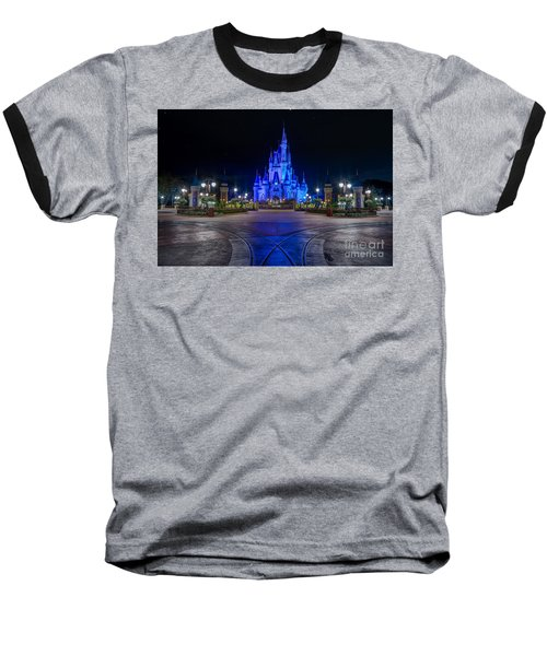 Cinderellas Castle Glow Baseball T-Shirt
