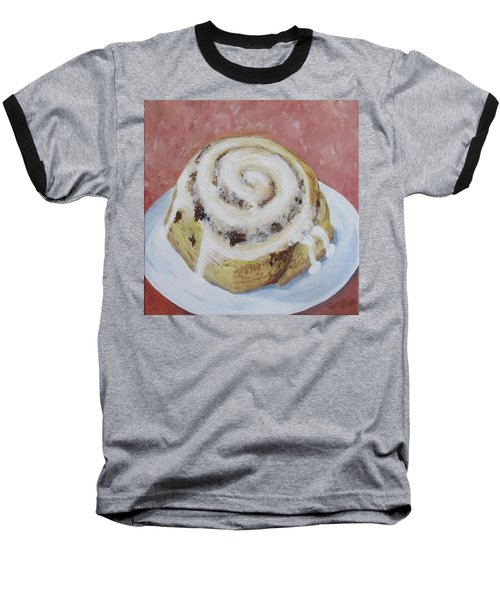 Baseball T-Shirt featuring the painting Cinnamon Roll by Nancy Nale