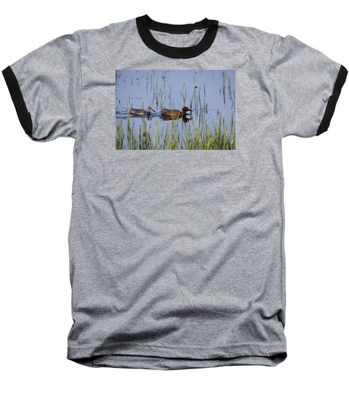 Cinnamon Teal Pair Baseball T-Shirt