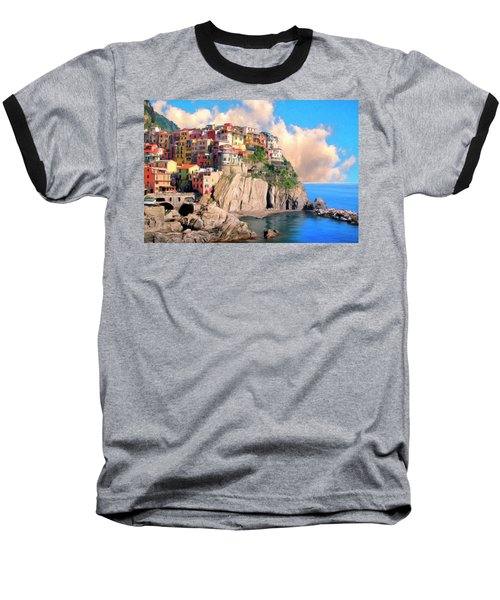 Cinque Terre Baseball T-Shirt by Dominic Piperata