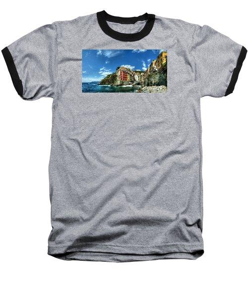 Cinque Terre - View Of Riomaggiore Baseball T-Shirt