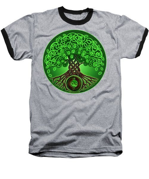 Circle Celtic Tree Of Life Baseball T-Shirt by Kristen Fox