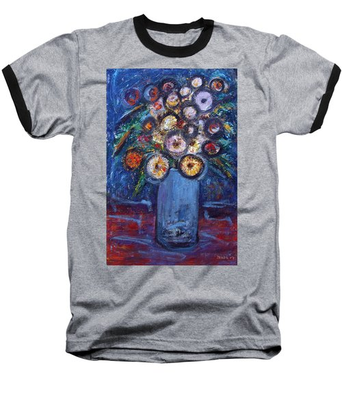 Circle Of Flowers Baseball T-Shirt