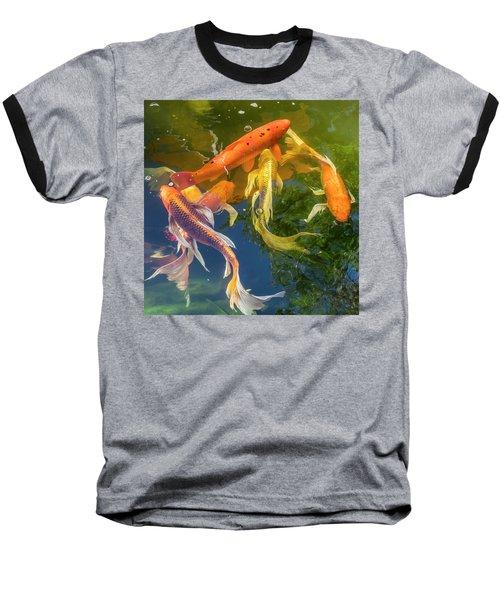 Circle Of Koi Baseball T-Shirt