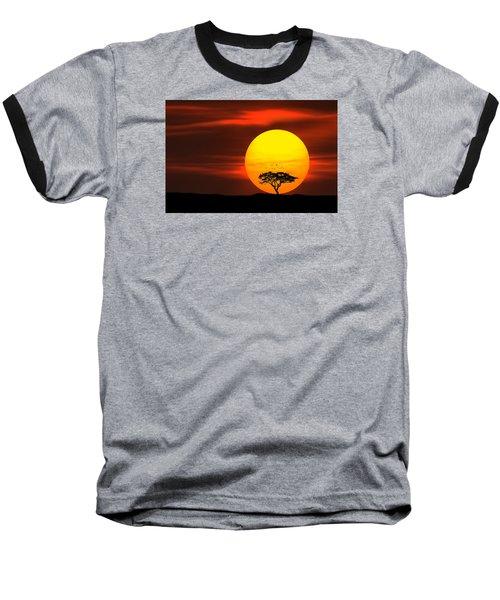 Circle Of Life Baseball T-Shirt by Bess Hamiti