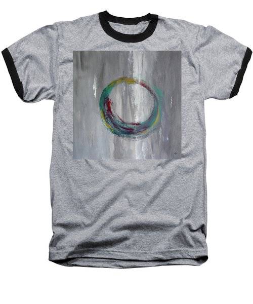 Baseball T-Shirt featuring the painting Vortex by Victoria Lakes