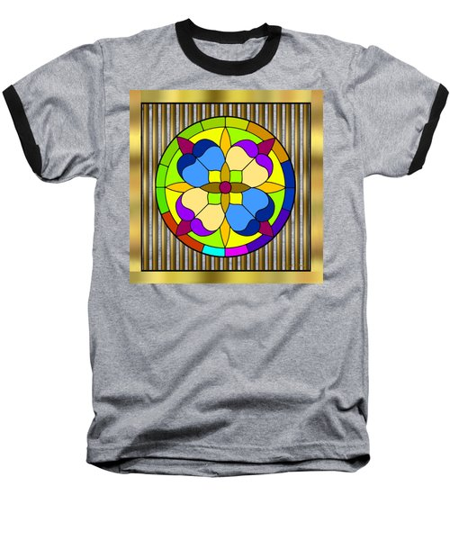 Circle On Bars 3 Baseball T-Shirt by Chuck Staley