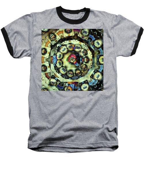 Baseball T-Shirt featuring the digital art Circled Squares by Ron Bissett
