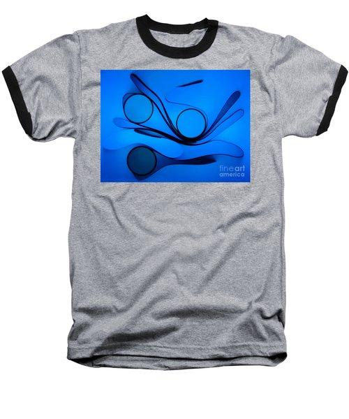 Circles And Shadows Baseball T-Shirt by Trena Mara