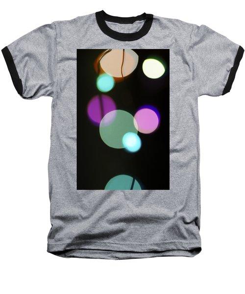 Circles And String Baseball T-Shirt by Susan Stone