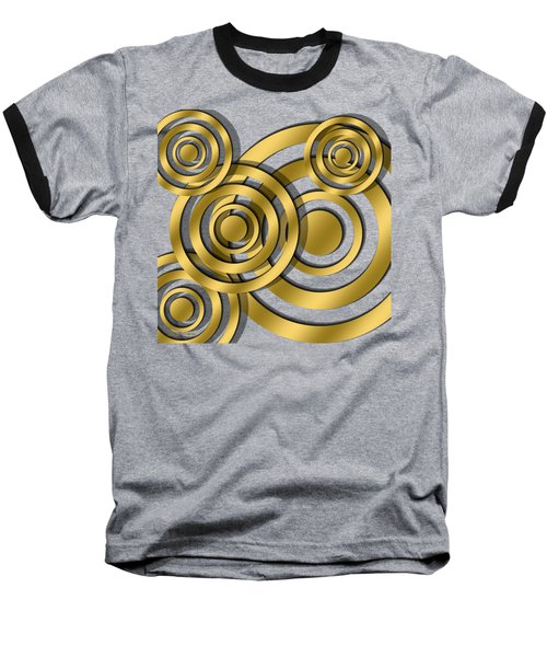 Circles - Chuck Staley Design Baseball T-Shirt by Chuck Staley