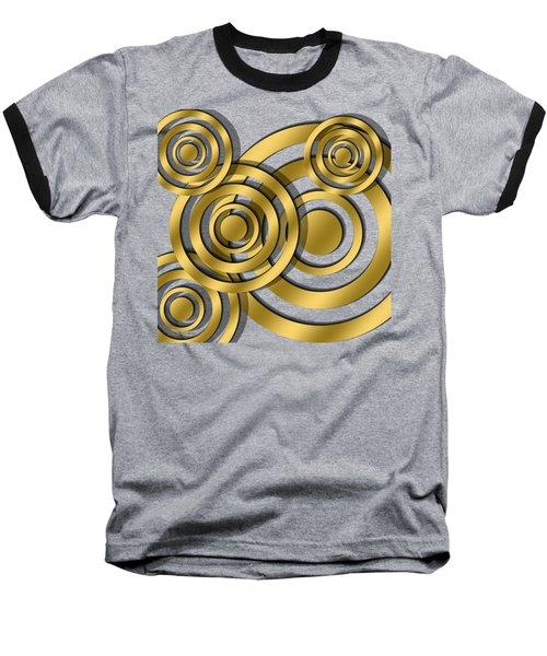 Circles - Transparent Baseball T-Shirt
