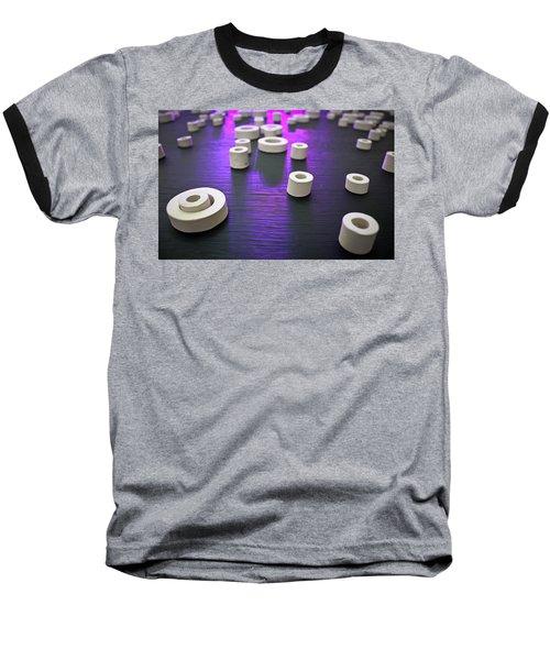 Circles Of Inspiration Baseball T-Shirt by Bobby Villapando