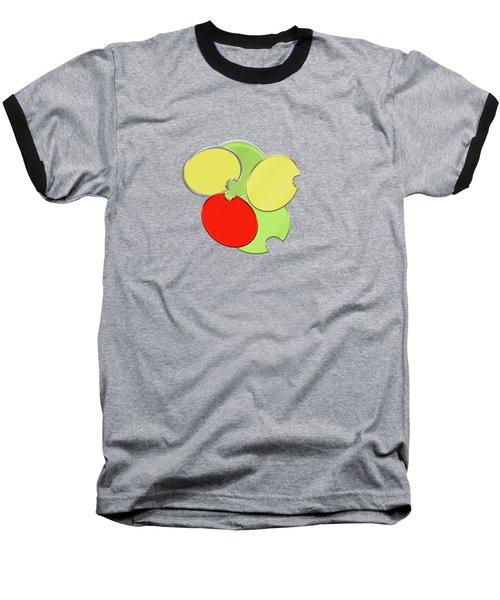 Circles Of Red, Yellow And Green Baseball T-Shirt