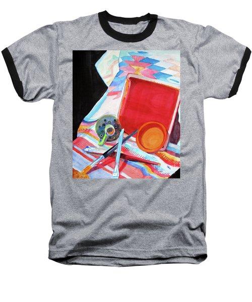 Circles, Squares And Shadows Baseball T-Shirt