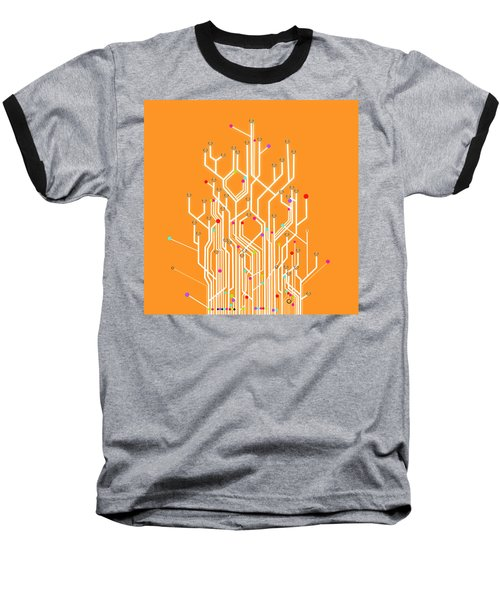 Circuit Board Graphic Baseball T-Shirt
