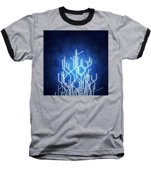 Circuit Board Technology Baseball T-Shirt