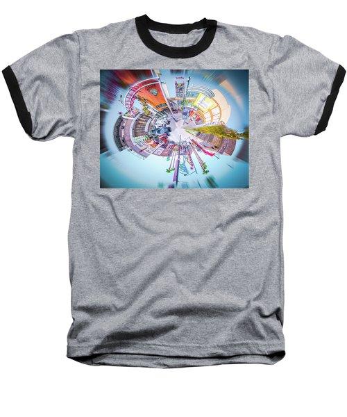 Circular Experience Baseball T-Shirt by Mark Dunton