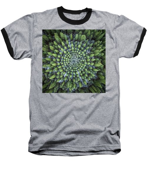 Circular Symmetry Baseball T-Shirt