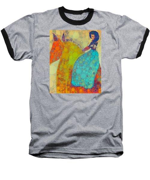 Circus Pony 2 Baseball T-Shirt by M  Stuart