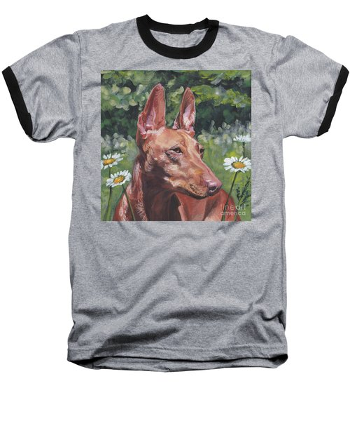 Baseball T-Shirt featuring the painting Cirneco Dell'etna by Lee Ann Shepard