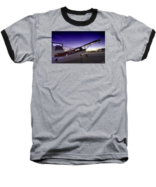 Citabria In The Twilight Of Dawn Baseball T-Shirt