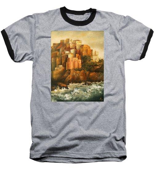 Cinque Terre Lerici Italia Painting Baseball T-Shirt