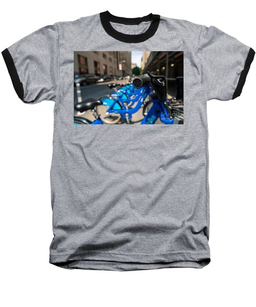 Citibike Handle Manhattan Color Baseball T-Shirt