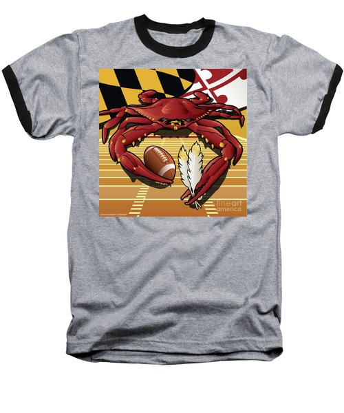 Citizen Crab Redskin, Maryland Crab Celebrating Washington Redskins Football Baseball T-Shirt