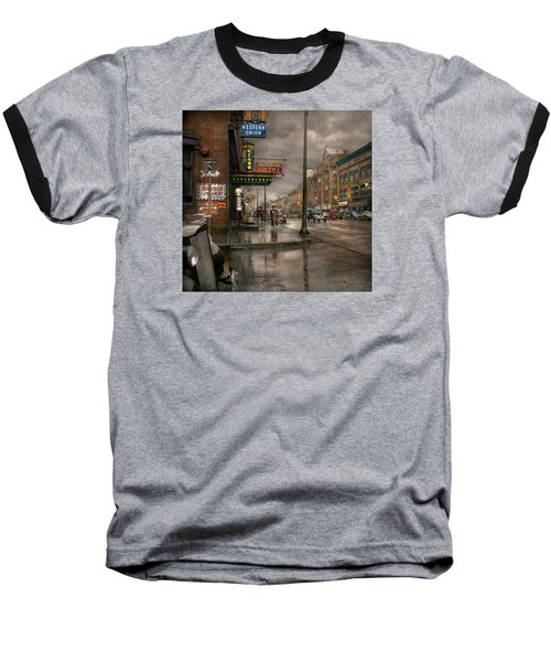 City - Amsterdam Ny -  Call 666 For Taxi 1941 Baseball T-Shirt