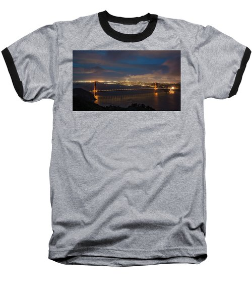 Baseball T-Shirt featuring the photograph City And The Bridge by Stephen Holst