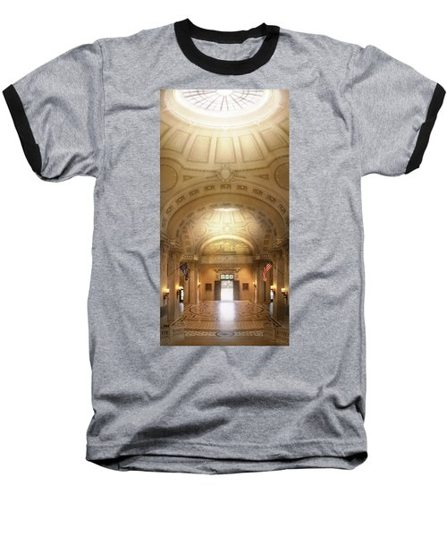 Baseball T-Shirt featuring the photograph City - Annapolis Md - Bancroft Hall by Mike Savad