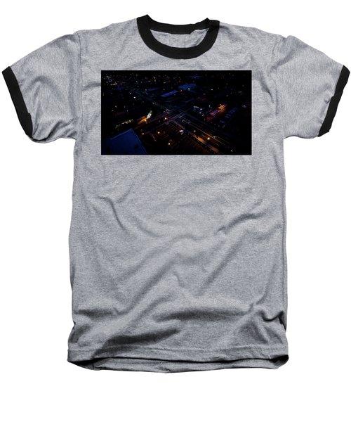 City At Night From Above Baseball T-Shirt