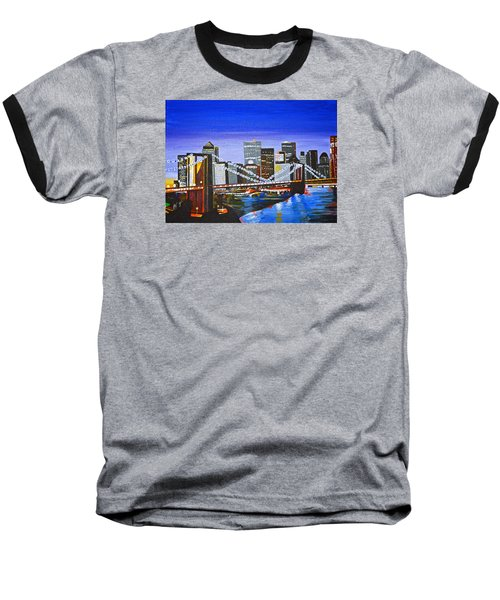 City At Twilight Baseball T-Shirt