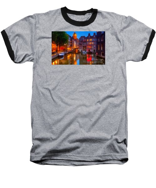 City Block 900 Soft And Dreamy In Thick Paint Baseball T-Shirt by Catherine Lott