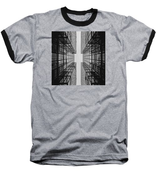 City Buildings Baseball T-Shirt