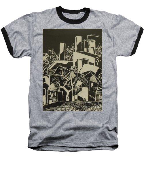 City By Moonlight - Sold Baseball T-Shirt by Judith Espinoza