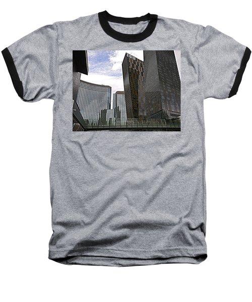 City Center At Las Vegas Baseball T-Shirt by Karen J Shine