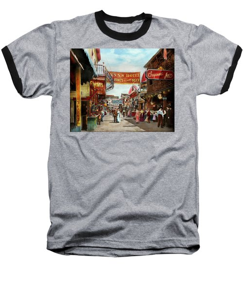 Baseball T-Shirt featuring the photograph City - Coney Island Ny - Bowery Beer 1903 by Mike Savad