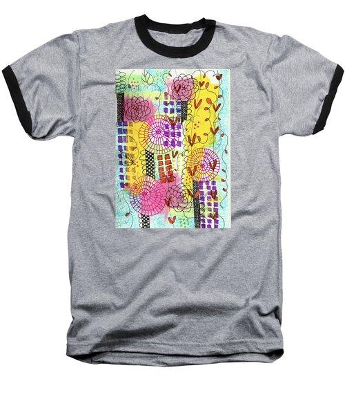 City Flower Garden Baseball T-Shirt