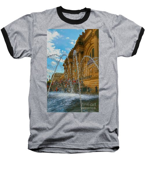 Baseball T-Shirt featuring the photograph City Fountain  by Raymond Earley