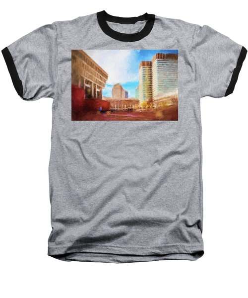 City Hall At Government Center Baseball T-Shirt