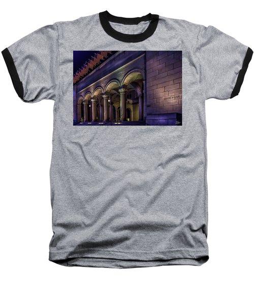 City Hall At Night Baseball T-Shirt